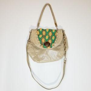ELLIOTT LUCCA Ona Leather Crochet Flap Bag